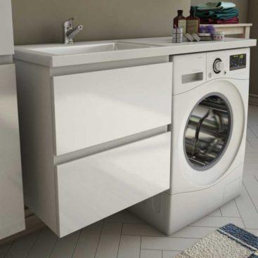 тумба под умывальник со стиральной машиной