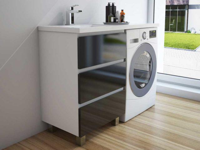 тумба под столешницей со стиральной машиной
