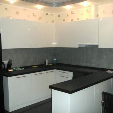 Кухня из акрила вариант №20