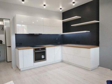 Кухня из акрила вариант №23