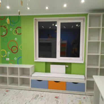 Мебель в детскую вдоль окна №12