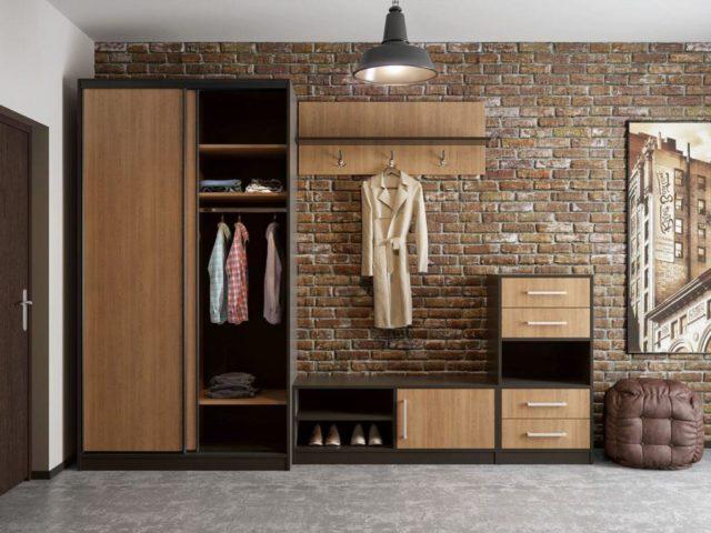 Мебель в прихожую в стиле лофт №2