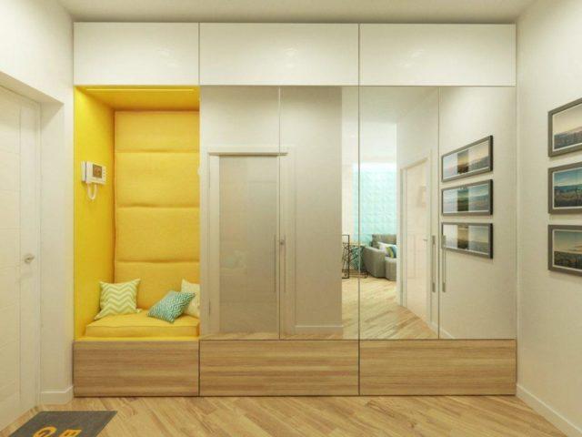 Мебель в прихожую с вешалкой и зеркалом №21