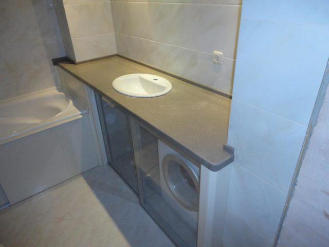 Тумба в ванную под врезной умывальник №50