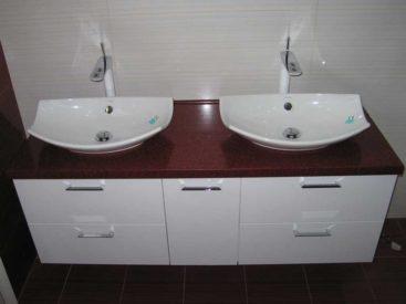 Мебель в ванную с накладным умывальником №62