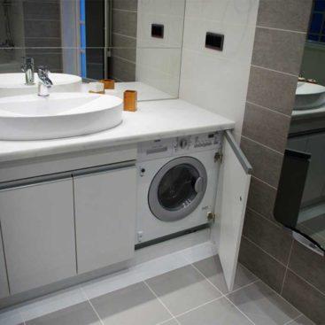 Мебель в ванную с закрытой стиральной машиной №65