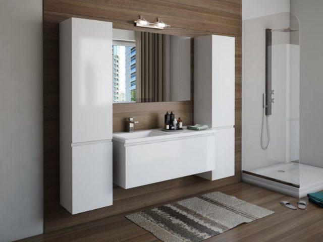 Мебельный гарнитур в ванную комнату вариант №80