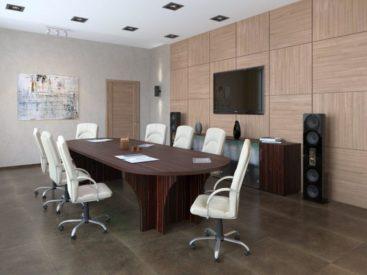 Овальный стол для переговоров №19