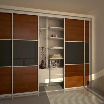 Шкаф-купе с комбинированными дверями №4