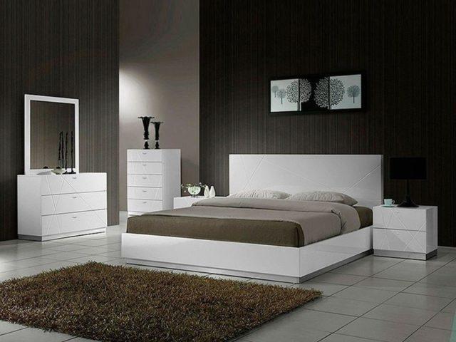 Мебель в спальню в белом цвете №1