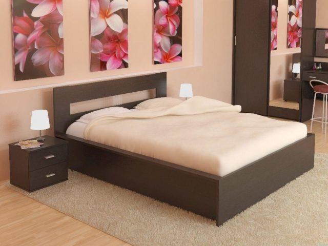 Кровать для спальни из ЛДСП(дсп) EGGER №4